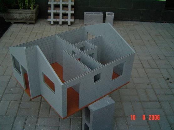 01 Maquete Casa 1.0 Modelo Caixa Econômica